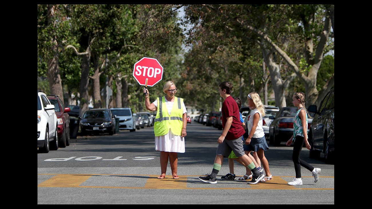 Photo Gallery: Auto Club and Burbank send safety message for new school year