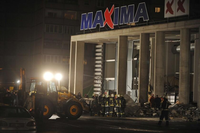Latvia supermarket collapse