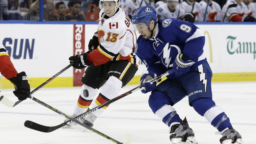 Lightning center Tyler Johnson (9) has missed three games because of an injury but could soon return to the lineup.