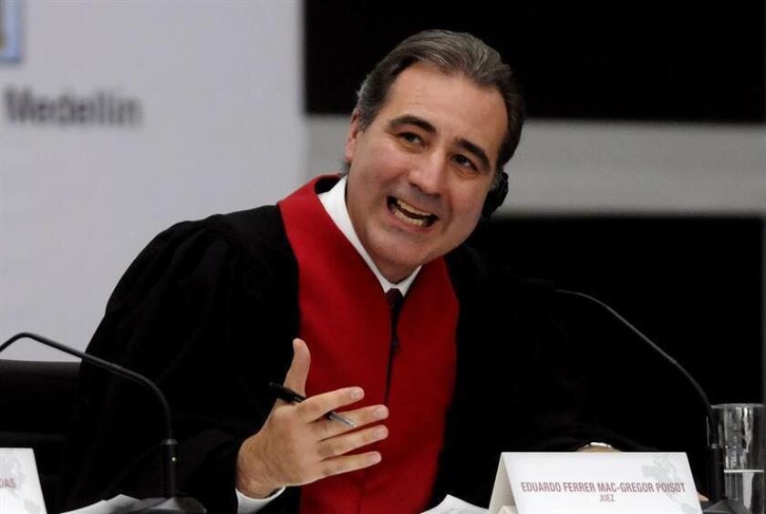 El juez mexicano, Eduardo Ferrer Mac-Gregor Poisot, de la Corte Interamericana de Derechos Humanos. EFE/ARCHIVO