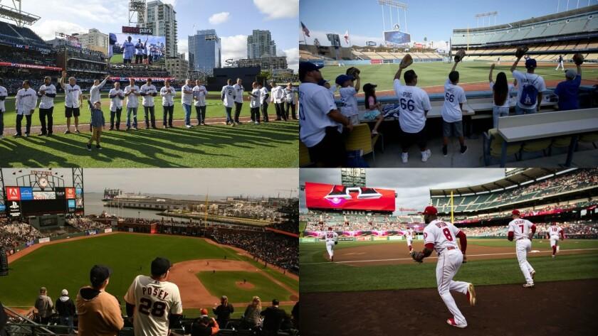 four California ballparks