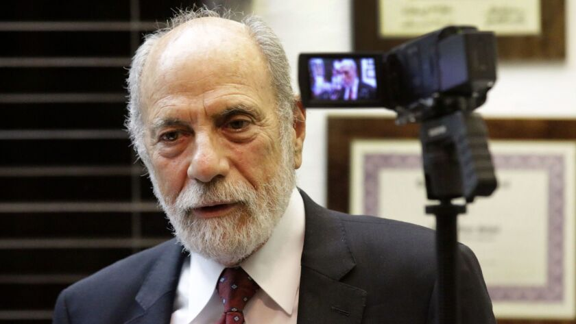 """Attorney Bruce Margolin, seen in 2015, complains that the L.A. City Council """"is still treating marij"""