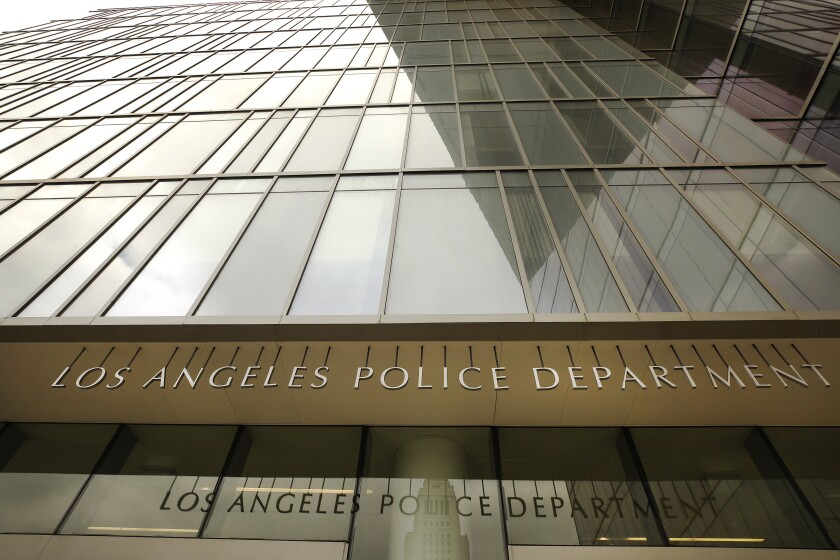 Los Angeles Police headquarters at First and Spring Street in downtown Los Angeles