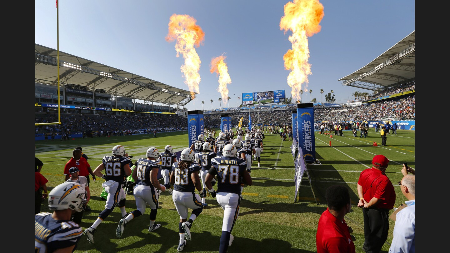 Los Angeles Chargers take the field
