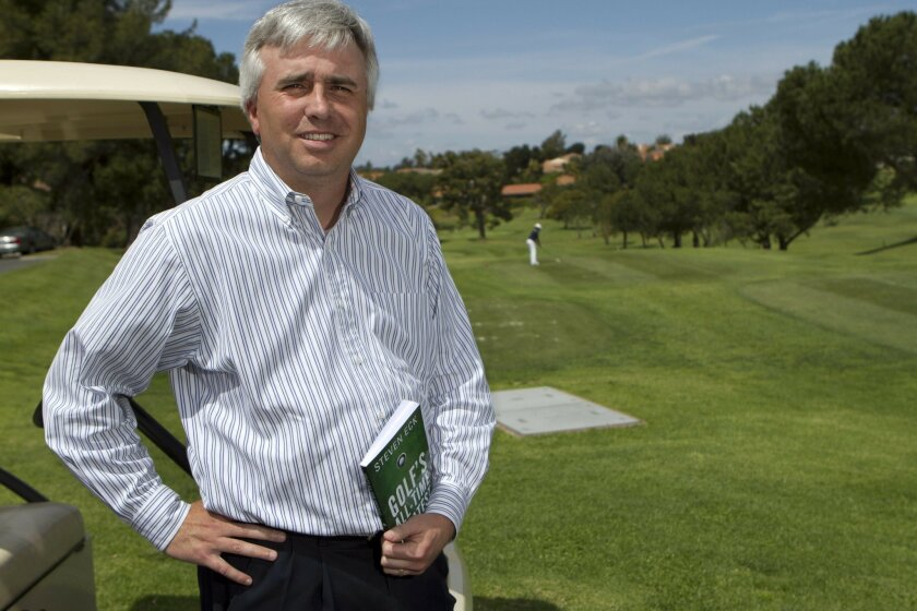 Steve Eck, who wrote a book about a PGA ranking system he divised, at Oaks North Golf Course in Rancho Bernardo.
