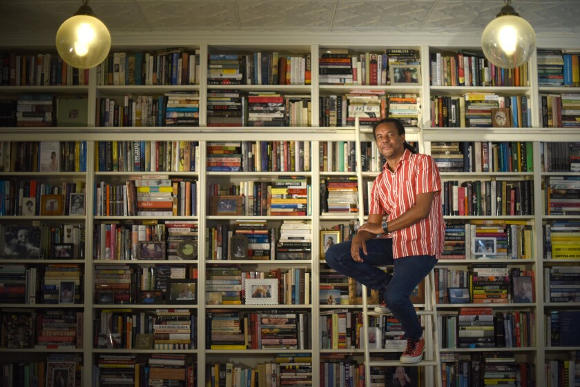 """Author Colson Whitehead, photographed at his agent's office in New York. His new book """"The Nickel Boys"""" is inspired by the notorious Dozier School for Boys in Marianna, Fla."""