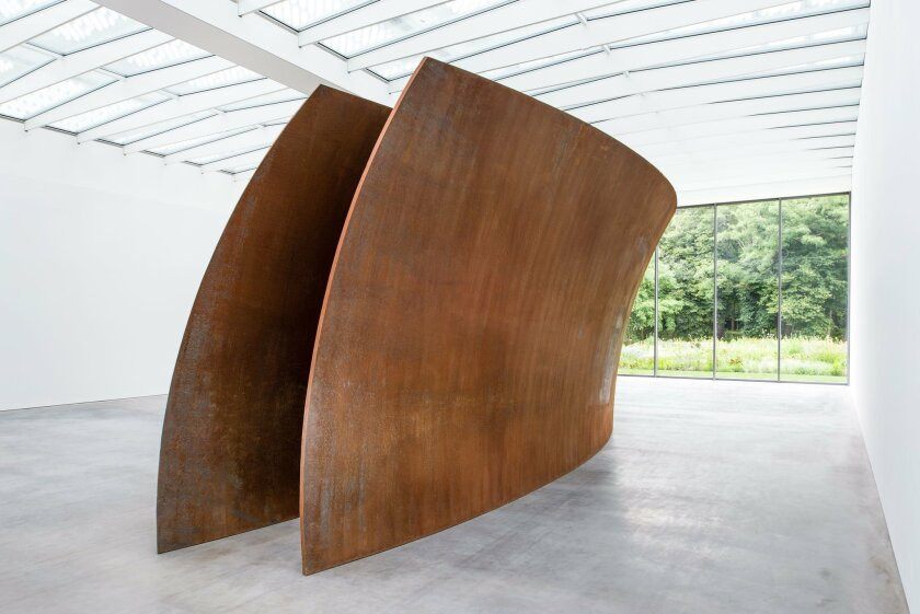 "In this undated handout picture, ""Open Ended"" sculpture by U.S artist Richard Serra at the new Museum Voorlinden in Wassenaar, Netherlands. The 216-ton walk-through sculpture is one of the permanent exhibits at the museum that opens its doors to the public on Sept. 11, 2016 to showcase the eclectic"