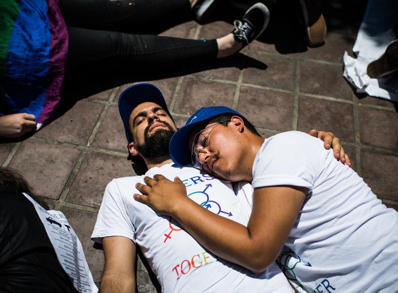 Activist stage 'die-in'