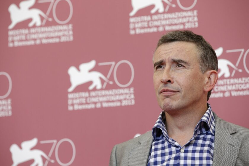 FILE - In this Saturday, Aug. 31, 2013 file photo, British actor-comedian Steve Coogan poses for photographers during a photo call to promote the film Philomena at the 70th edition of the Venice Film Festival in Venice, Italy. Coogan plays a lawyer battling to keep his client from the gallows in th