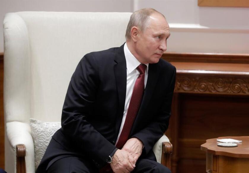 Russian President Vladimir Putin attends a meeting with Indian Prime Minister Narendra Modi (not pictured) in New Delhi, India, 04 October 2018. EPA/MIKHAIL METZEL / KREMLIN POOL/SPUTNIK / POOL MANDATORY CREDIT