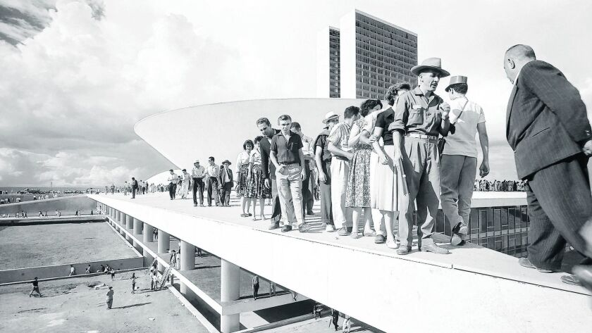 """Thomaz Farkas' photograph of visitors at the National Congress of Brazil will be on display at the Museum of Contemporary Art San Diego as part of """"Memories of Underdevelopment"""" through Jan. 21."""
