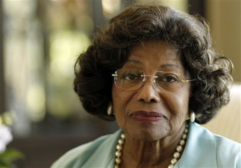 FILE - In this April 27, 2011 file photo, Katherine Jackson poses for a portrait in Calabasas, Calif. Attorneys and a judge continue to try to qualify jurors to hear Jackson's lawsuit versus concert promoter AEG Live over the hiring of the doctor convicted of involuntary manslaughter in connection