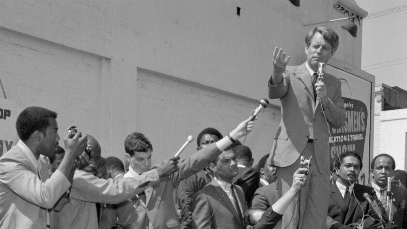 "NORTHRIDGE, CA - JULY 3, 2013: Photo by Harry Adams, ""Robert F. Kennedy, 1968,"" at California State"
