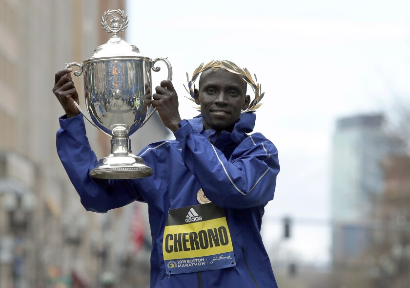 Lawrence Cherono was raised in Kenya, where he was milking cows at 4 a.m. before running to school.