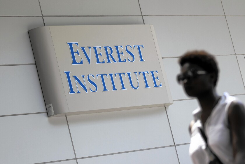 Everest Institute is one of Corinthian Colleges' brands. In November Corinthian announced that ECMC Group, a nonprofit student loan servicer, would purchase 56 of its schools, excluding those in California and some other Western states.
