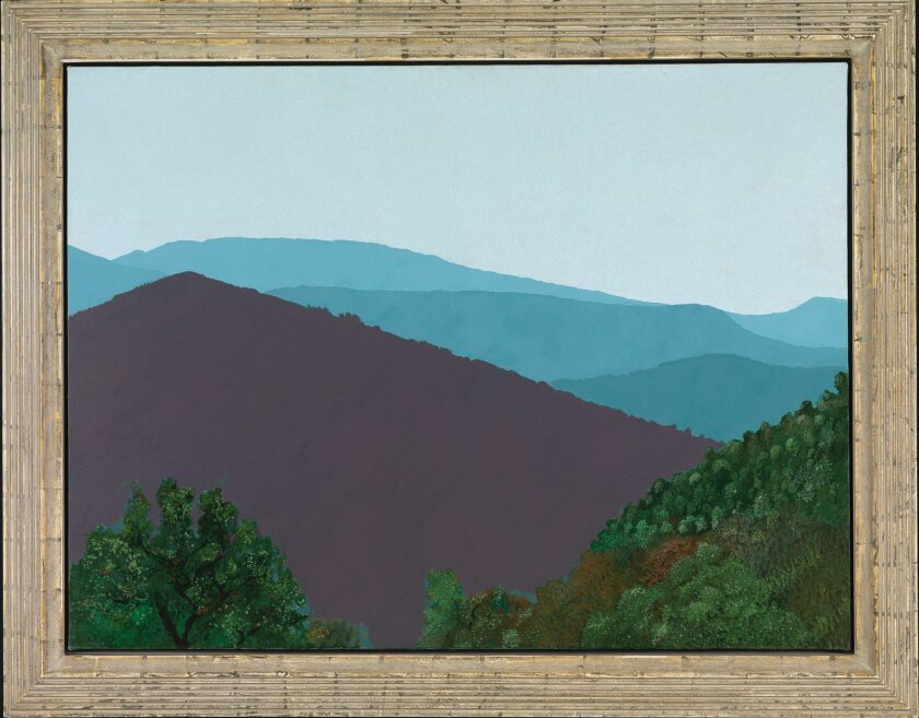 David Hockney, 'The Valley (Mountains in Var, near La Garde Freinet),' 1970, Collection of Sheryl and Harvey White