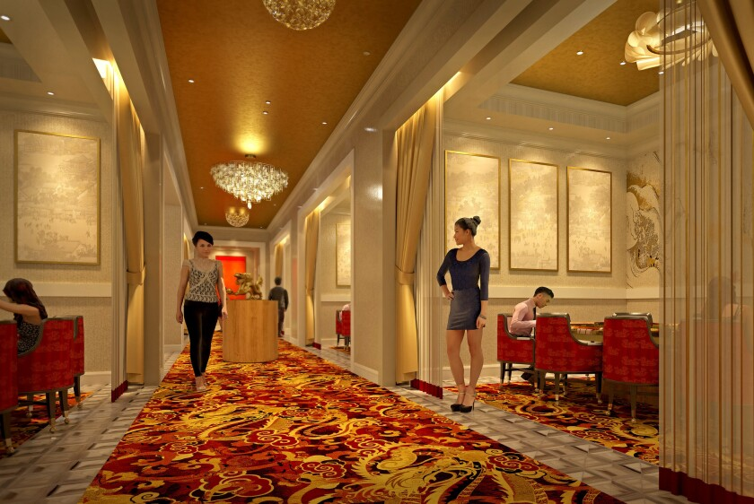 An artist's rendering of VIP Gaming at the Lucky Dragon Hotel & Casino in Las Vegas.