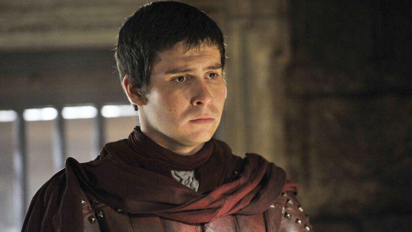 "Daniel Portman as squire Podrick Payne on ""Game of Thrones."""