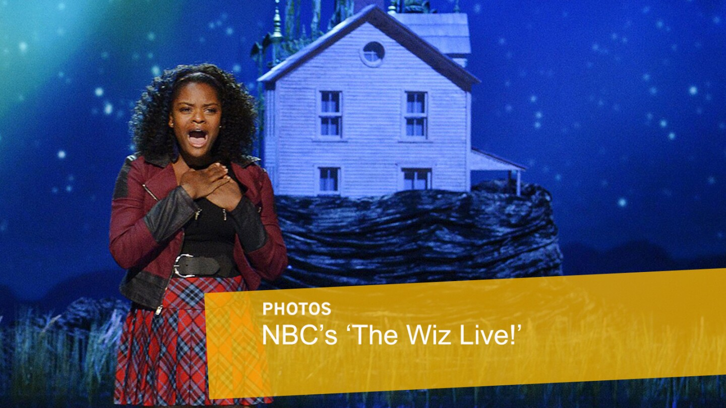 """Shanice Williams performs as Dorothy during a dress rehearsal of """"The Wiz Live!"""" in New York."""
