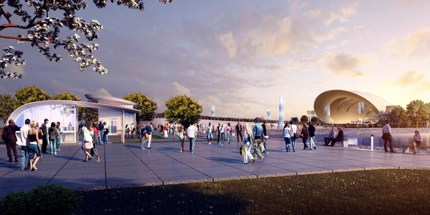Rendering of Bayside Performance Park