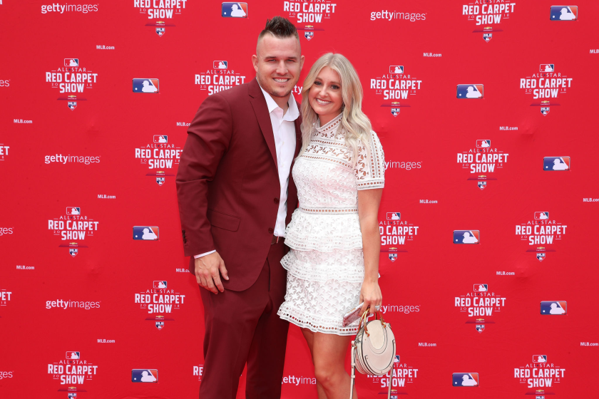 Mike Trout and his wife Jessica take part in the 89th MLB All-Star game.
