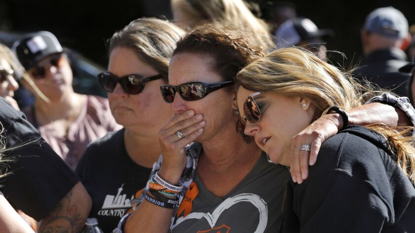 THOUSAND OAKS, CA-NOVEMBER 11, 2018: Left to right-Jill Winter of San Diego, Sue Heili of Foothill