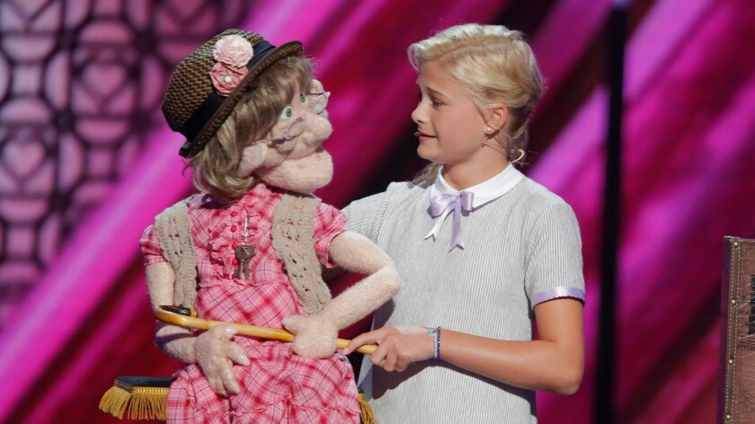 """With puppets such as Edna, the naughty senior citizen, ventriloquist Darci Lynne Farmer earned a $1-million prize for winning Season 12 of """"America's Got Talent."""" She will showcase her talents during a four-night run in early November at Planet Hollywood in Las Vegas."""