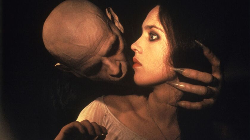 "Klaus Kinski and Isabelle Adjani in the 1979 film ""Nosferatu the Vampyre."""