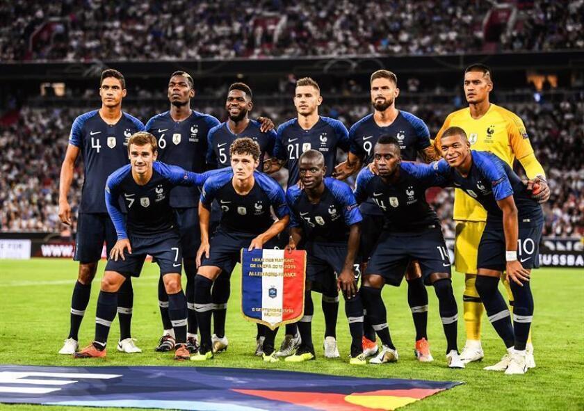 El once inicial de la selección francesa. EFE/Archivo