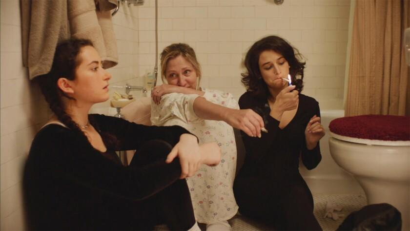"Abby Quinn, left, Edie Falco and Jenny Slate in ""Landline."""