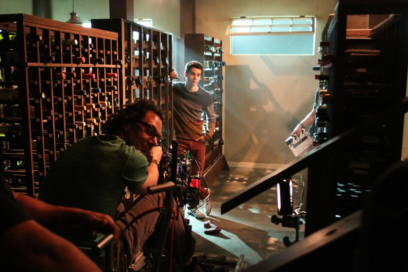 """Dylan O'Brien rehearses in December 2012 a scene from the MTV series """"Teen Wolf,"""" which relocated from Georgia to Los Angeles to take advantage of a California tax credit. Two L.A. legislators will propose a new film and TV incentive package when the Legislature reconvenes in January."""
