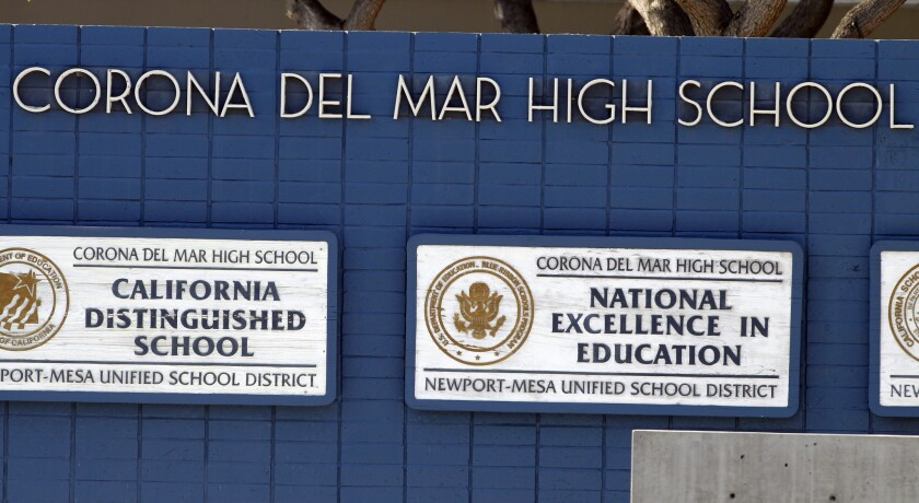 D.A. to weigh criminal charges in alleged high school cheating scheme