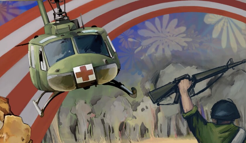 Detail from Take Me Home Huey helicopter