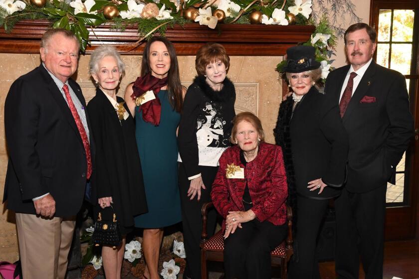 John Thornton, Fran Golden (1981 chair), Ellen Moxham (2016 chair), Bonnie Hage (tea chair), Karen Luce (1979 chair), Phyllis Parrish (2017 chair), John Parrish