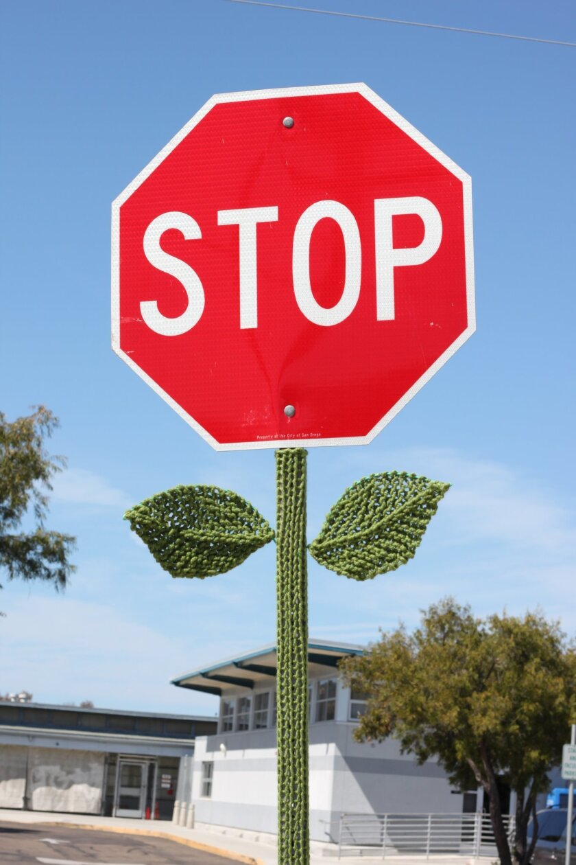 Stop sign flower power