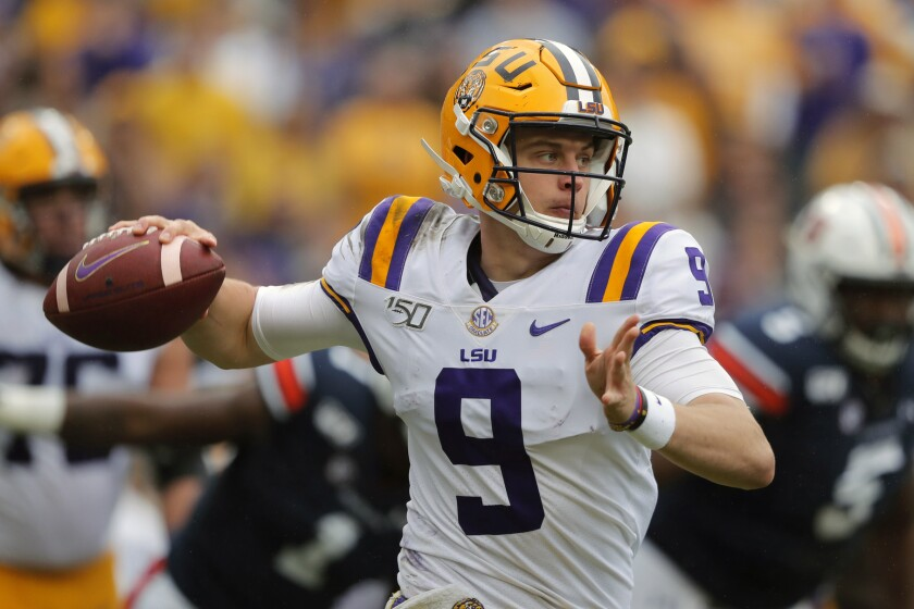 LSU and quarterback Joe Burrow are making things interesting this season, as a mix of teams hope to knock Alabama, Clemson off the college football mountaintop.