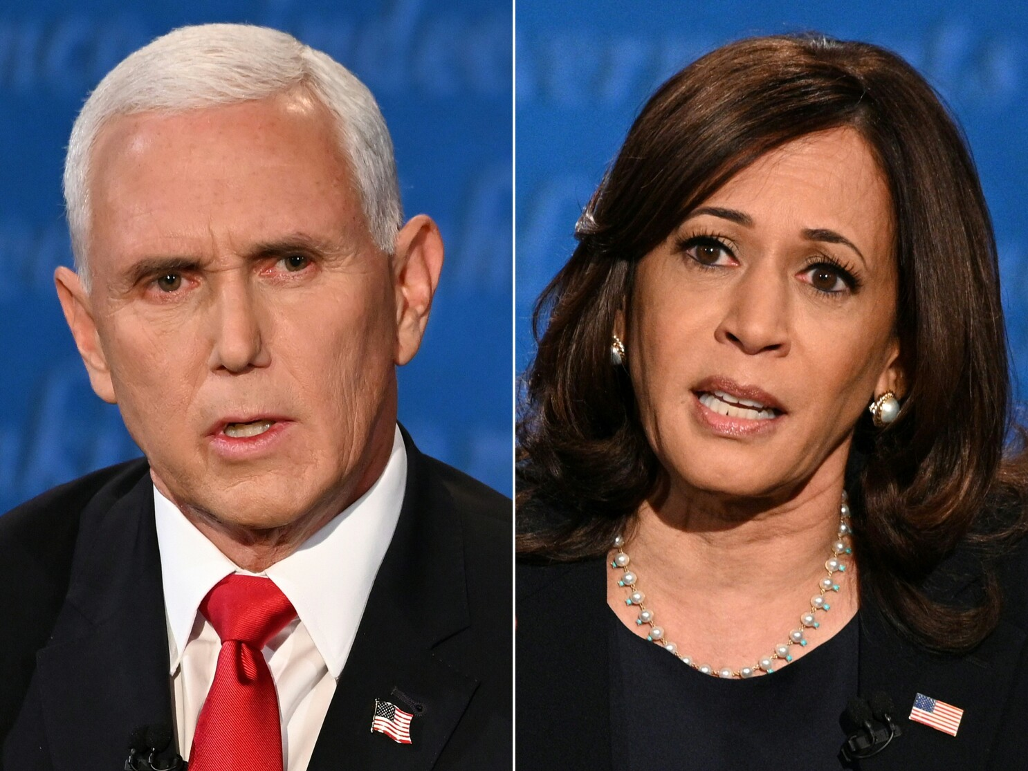 VP candidates Harris and Pence debate with friendlier fire - Los Angeles  Times