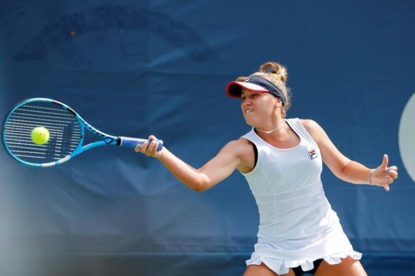 En la imagen la tenista estadounidense Sofia Kenin. EFE/ERIK S. LESSER/Archivo
