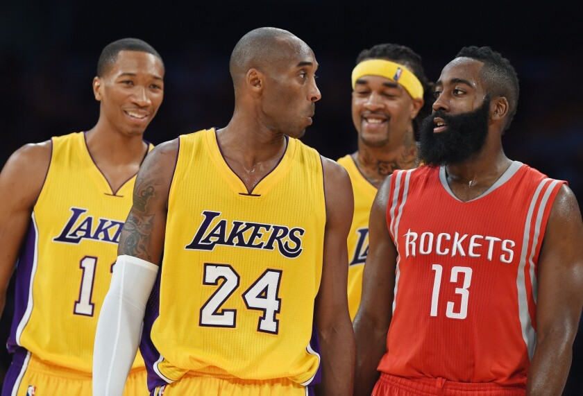 Wesley Johnson, Kobe Bryant, Jordan Hill, James Harden