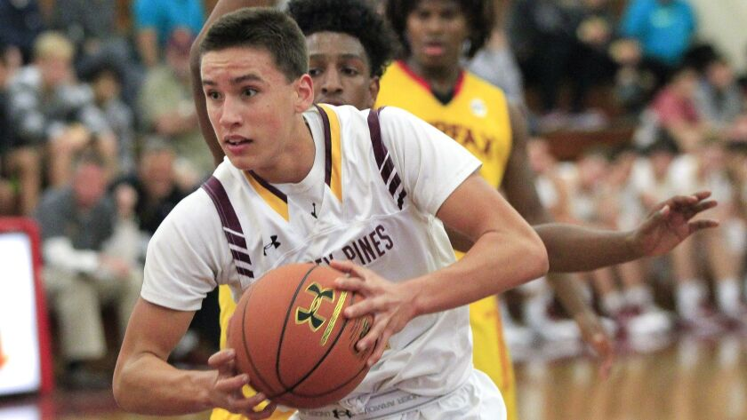 Bryce Pope (shown in an earlier game) had 19 points and eight rebounds for Torrey Pines.