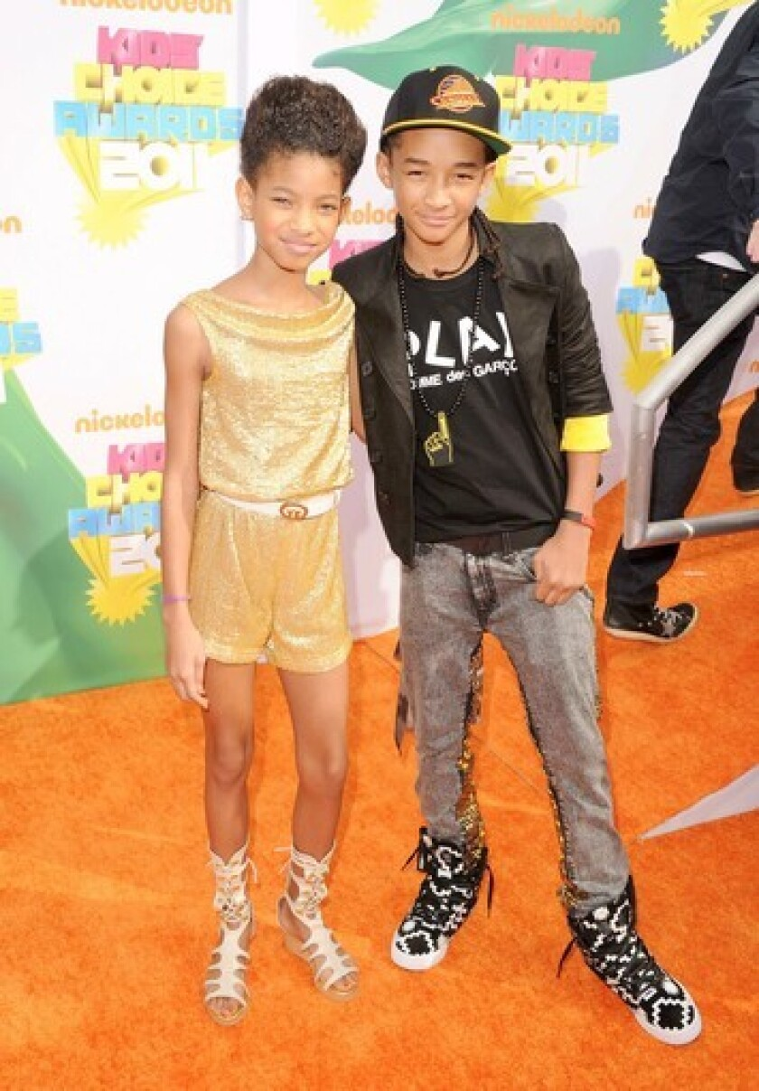 "Willow Smith, left, with brother Jaden shortly after the release of 2010's ""Whip My Hair."""
