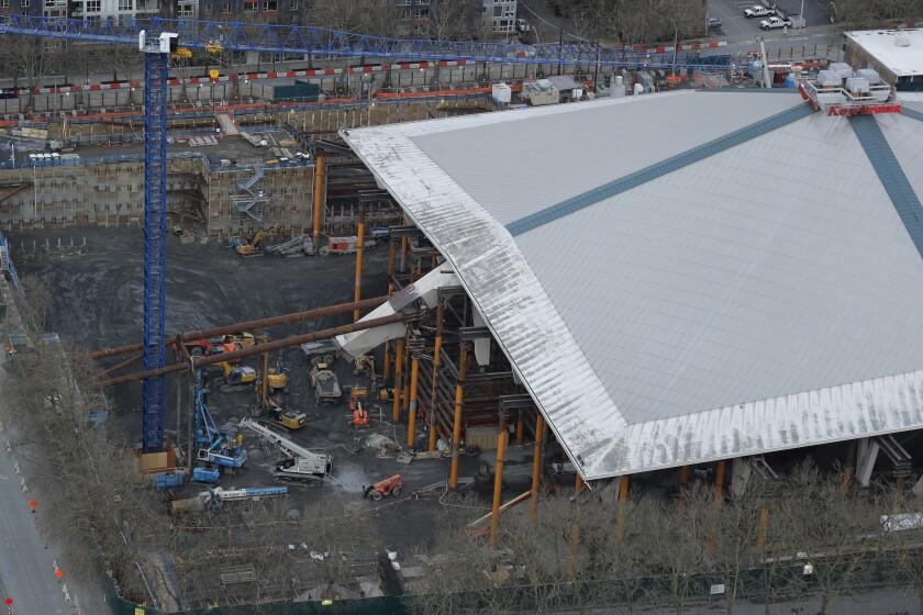 Virus Outbreak Stadium Construction