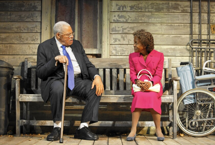 """James Earl Jones and Cicely Tyson in """"The Gin Game."""""""