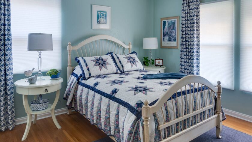 The bedroom of a home in Kensington remodeled by Ann Cummings, one of seven on the ASID tour.