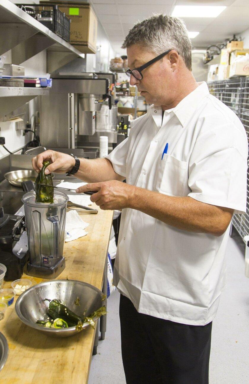 Chef Trey Foshee makes Potato Chorizo Verde-Kale Tacos at Galaxy Tacos.