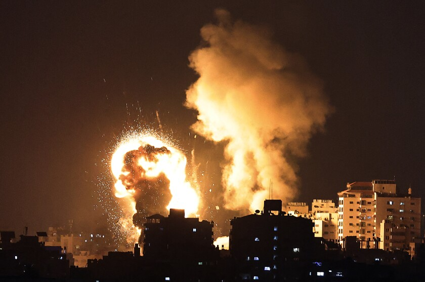 Israel launched airstrikes on Gaza in response to a barrage of rockets fired by Hamas