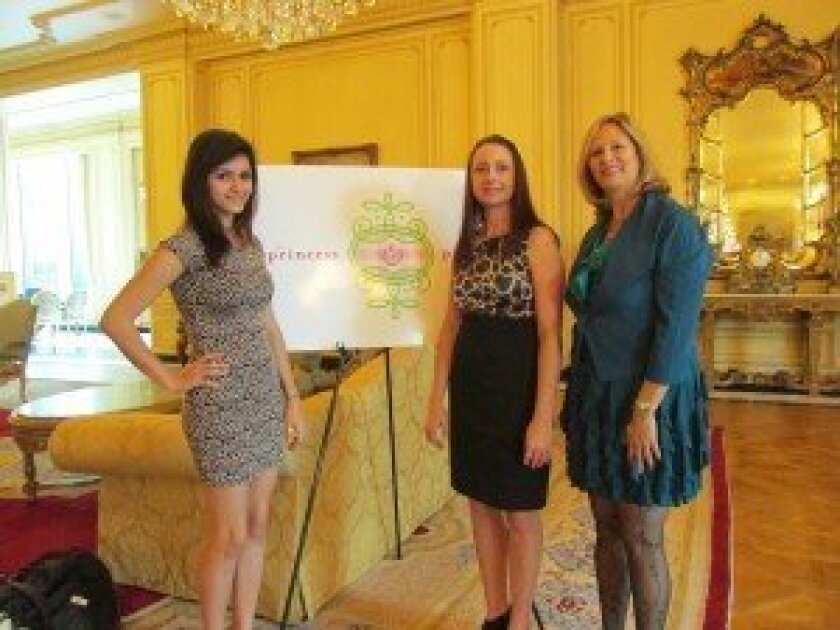 The Princess Project: Co-Producers Stephanie Sullivan (right) and Brianna Sardina (left) with Princess Project San Diego Chair Jennifer Gaston (middle).