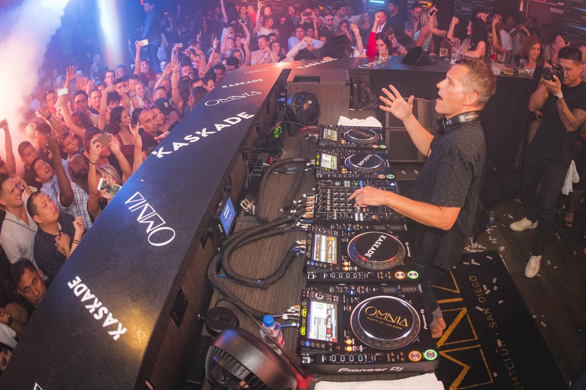 Known for his residencies in Las Vegas, DJ Kaskade premiered to a full house at Omnia San Diego on Friday, Aug. 11, 2017. (Ryan Campbell)