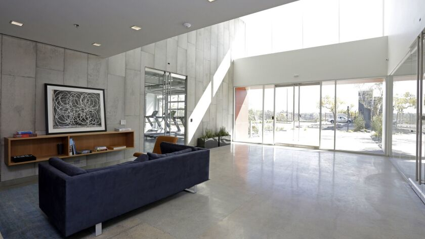A two-story entry area was carved out of the building as part of $5 million in renovations.