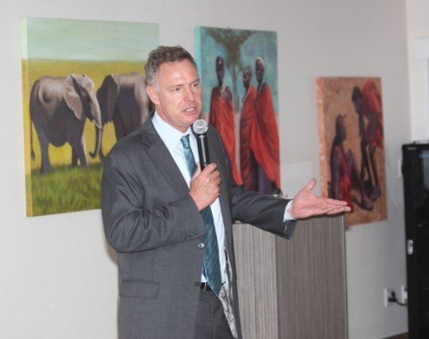 Congressmember Scott Peters dropped by the La Jolla Community Center during last month's monthlong recess.